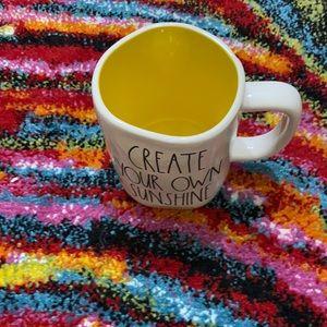 Rae Dunn Create Your Own Sunshine Yellow Mug